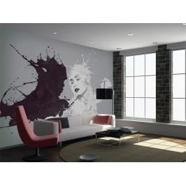 Murando DeLuxe Černá a bílá 150x116 cm