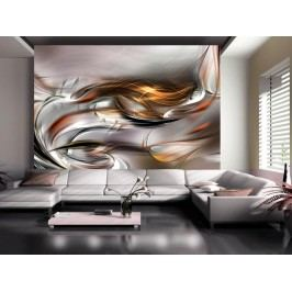 Murando DeLuxe Tapeta zlaté spojení 150x105 cm