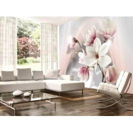 Murando DeLuxe Tapeta magnolie v růžové 150x105 cm