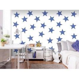 Murando DeLuxe Tapeta modré hvězdy 150x105 cm