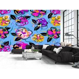 Murando DeLuxe Tapeta květinky 150x105 cm