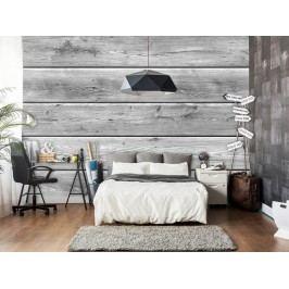 Murando DeLuxe Tapeta šedé dřevo 150x105 cm
