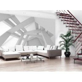 Murando DeLuxe 3D bílá konstrukce 150x105 cm