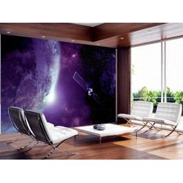 Murando DeLuxe Fialový vesmír 150x105 cm