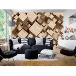 Murando DeLuxe 3D tapeta (150x105 cm) -  Dřevěné krychle
