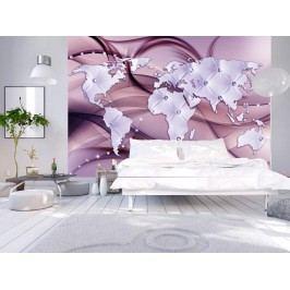Murando DeLuxe Svět v barvě lila 150x105 cm