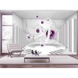 Murando DeLuxe Tapeta fialový hlavolam 150x105 cm