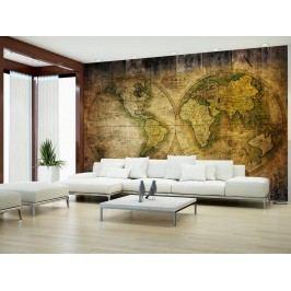 Murando DeLuxe Historická mapa světa 150x105 cm