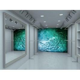 Murando DeLuxe Abstraktní tapeta modrý oceán 150x116 cm