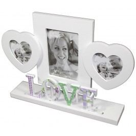 Fotorámeček Love na tři fotografie