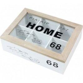 Dřěvená krabička na čaj Home