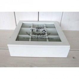 Krabička na čaj bílá