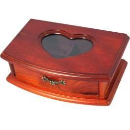 Šperkovnice s proskleným srdcem