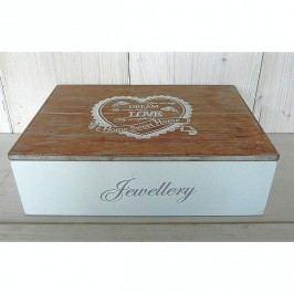 Dřevěná krabička na šperky Dream