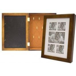 Dřevěná krabička na klíče s rámečky