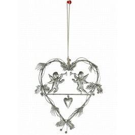 Závěsná dekorace srdce s andělem