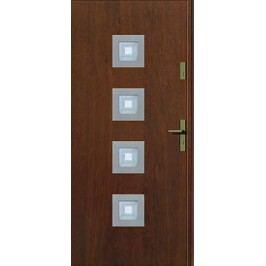 Dveře Thermika Kwadro INOX s vitráží