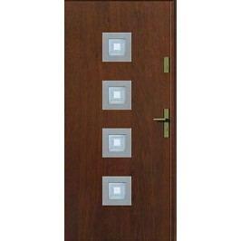 Dveře Prima Thermo Kwadro INOX s vitráží