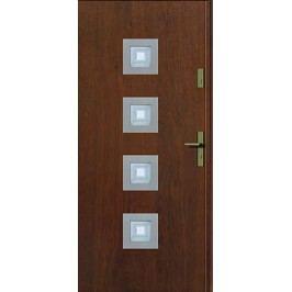 Dveře Prima Kvadro INOX s vitráží