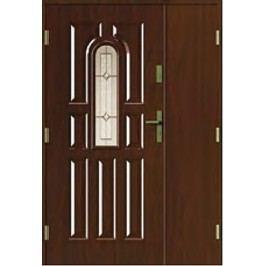 dveře 9 paneli s vitráží dvoukřídlé