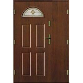 dveře Thermika Falc 4+2 Paneli s vitráží dvoukřídlé