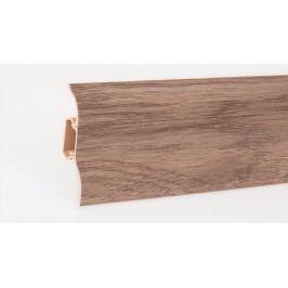 Podlahová lišta soklová PVC 406 kaštan Girona výška 52mm