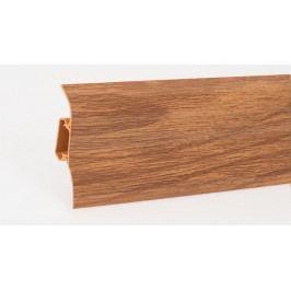 Podlahová lišta soklová PVC 428 dub Vintage výška 52mm