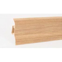 Podlahová lišta soklová PVC 435 dub přírodní výška 52mm
