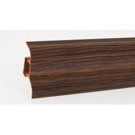 Podlahová lišta soklová PVC 438 dub kávový výška 52mm