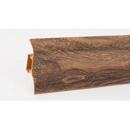 Podlahová lišta soklová PVC 444 tygerijské dřevo výška 52mm