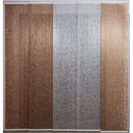 Japonská stěna s 5 kolejemi - šířka 901-1000mm x výška 901-1000mm